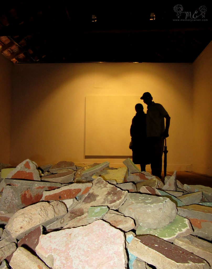 Kochi Muziris Biennale 2016 - the rubble exhibit