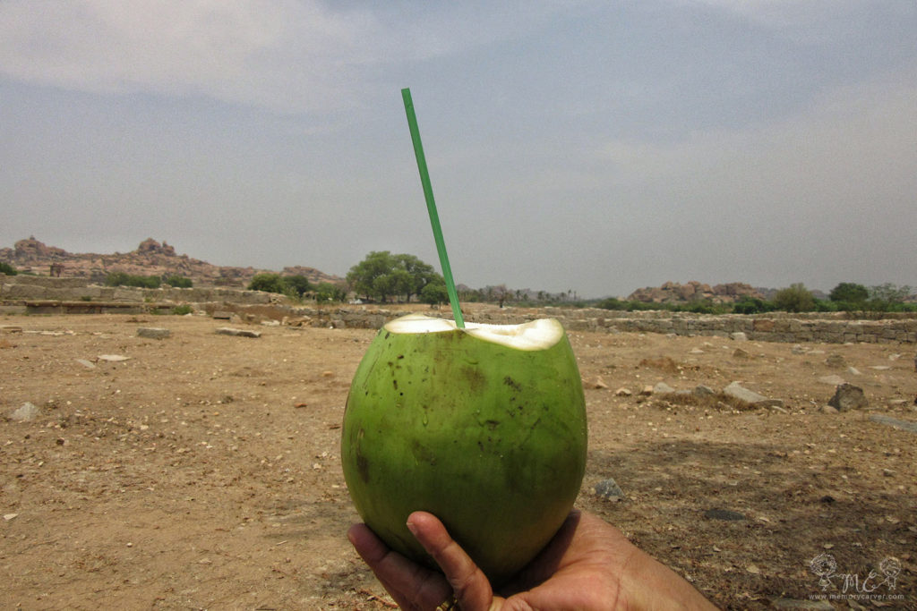 naarial paani at hampi - hampi road trip