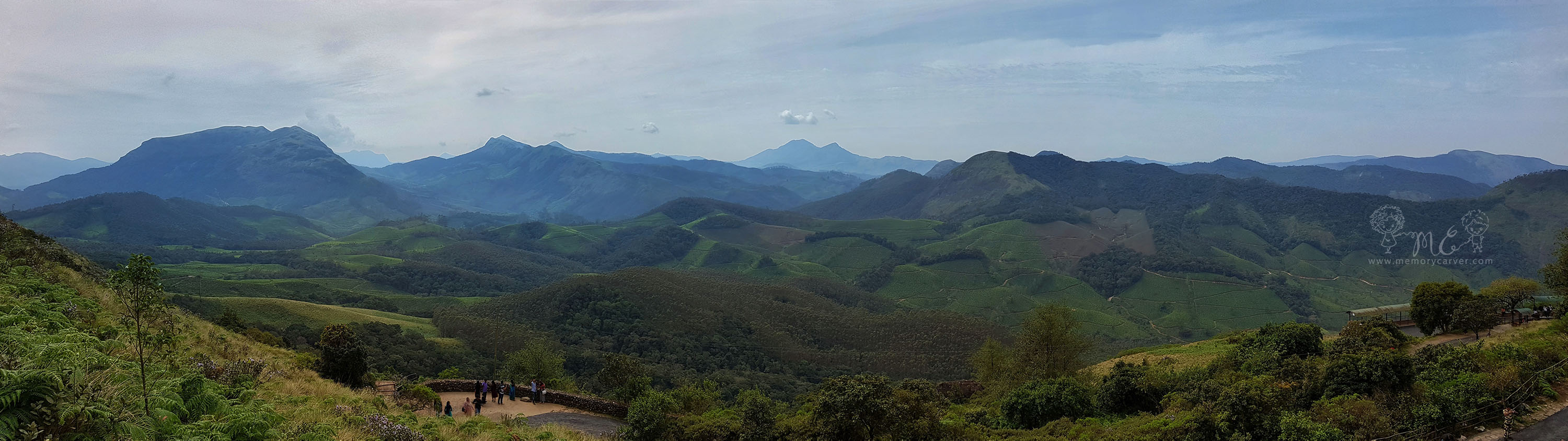 Munnar Neelakurinji trek - panorama at eravikulam national park