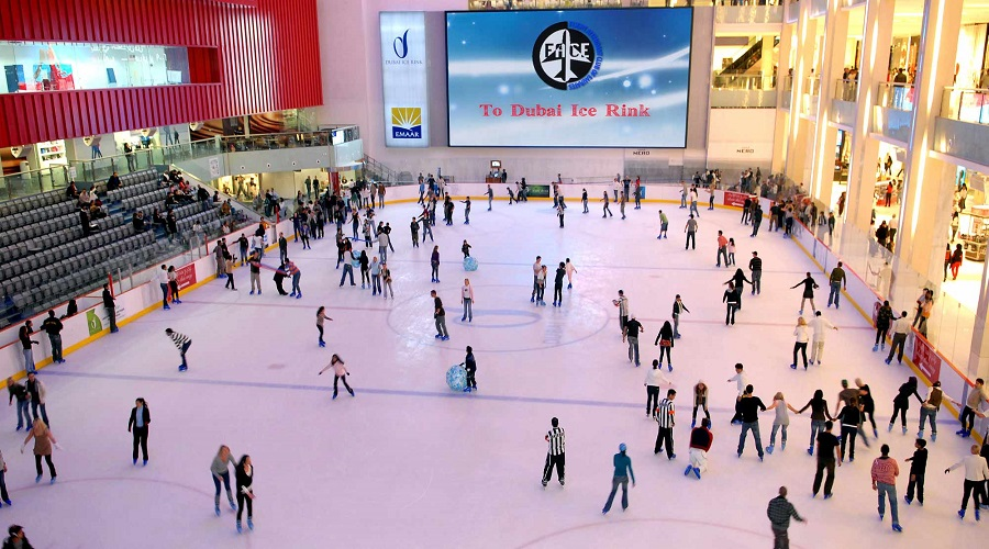 Swirl in the Dubai Ice Rink